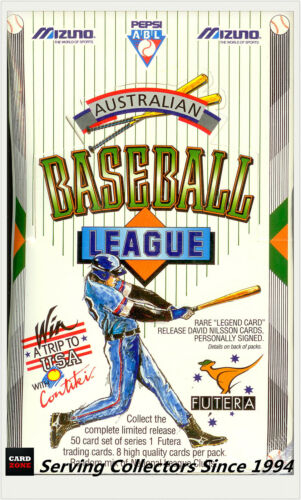 1993 Futera Australia Baseball League Card Factory Box 48 pks ULTRA RARE