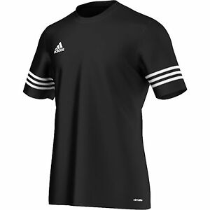 Adidas Entrada Boys Junior Kids Climalite Crew Sports Gym Football T Shirt Top Sale Price T-shirts, Tops & Shirts