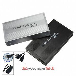 CAJA-EXTERNA-USB-CARCASA-DISCO-DURO-3-5-IDE-EXTERNO-CON-CABLES-ALUMINIO-PLATA