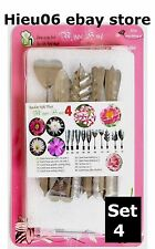 10 pieces high tech set# 4 stainless - 3D Gelatin Art Tools cake birthday party