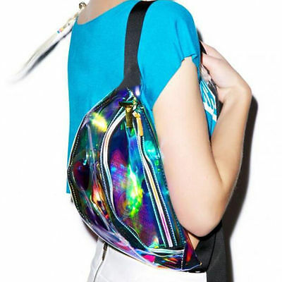 Women's Hologram Fanny Pack Bum Bag Travel Purse Waist BagATAU