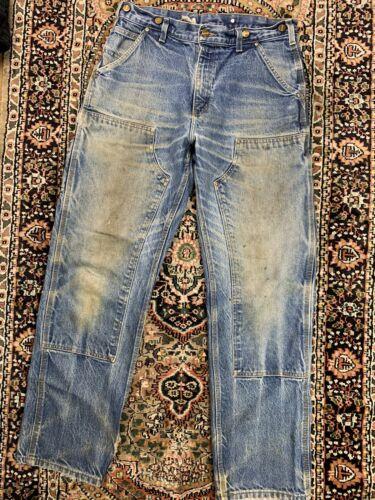 Vtg Carhartt Double Knee Work Pants Size 33x32 Wor
