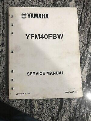 2007 YAMAHA YFM40FBW Service Manual