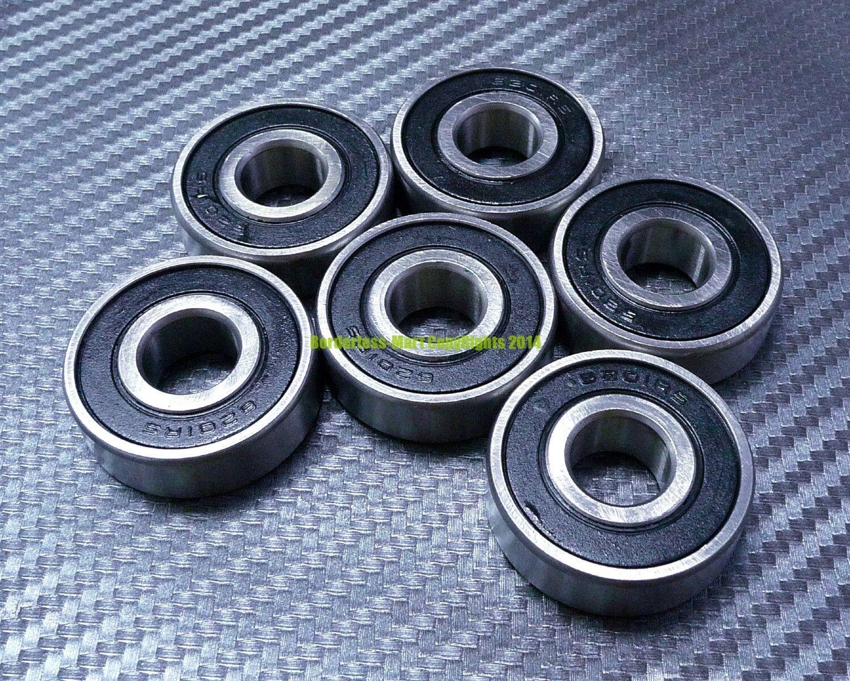 "3//8/"" x 7//8/"" x 9//32/"" BLACK 5 PCS Rubber Sealed Ball Bearing R6RS R6-2RS"