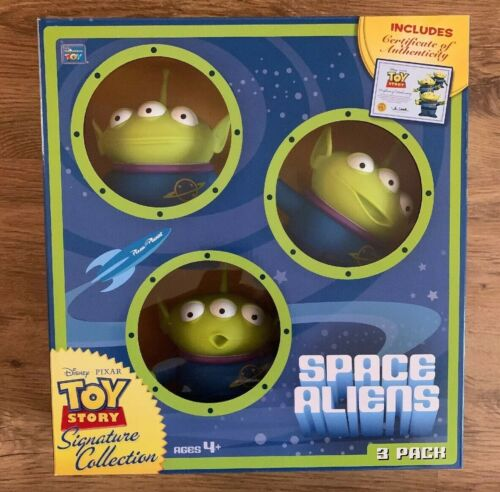 Thinkway Signature Collection Toy Story Space Aliens Pack 3 avec COA certificat