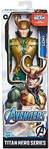 "New Marvel Avengers Titan Hero Series Blast Gear Loki 12"" Action Figure, Rare"