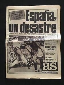 DIARIO-AS-MUNDIAL-1982-ESPANA-IRLANDA-KUWAIT-INGLATERRA-ALEMANIA-AUSTRIA-ARGELIA