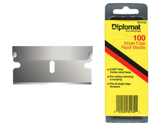 PRO.QUALITY SINGLE EDGE RAZOR BLADES MADE in AMERICA.PKT of 100 CARBON STEEL