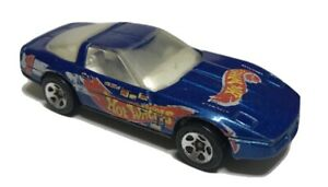Hot-Wheels-80-039-s-Corvette-Blue-Car-Race-Team-Chevrolet-1997-Malaysia-Loose