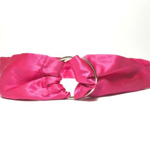 Women's Vintage Hot Pink Wide Sash D Ring Belt Si… - image 1