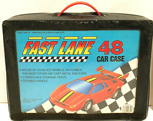 Fast Lane Motors >> Details About Fast Lane Car Case W 48 Matchbox Superfast Diecast Miliary Rescue Travel Trucks