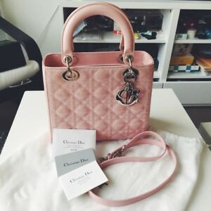 a598003764 Details about Christian Dior Lady Dior Bag Medium Cherry Blossom Pink  Patent AUTHENTIC & NEW