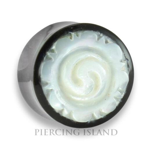 16mm HORN PERLMUTT Flesh Tunnel Tube Ear Plug Ohr Piercing 278 Paar 6mm