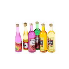 6Pcs Colorful Wine Bottles Dollhouse Miniature 1:12 Scale TOY WTUS