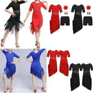 b8344a82f52a Image is loading Girls-Latin-Dance-Dress-Tango-Rumba-Jazz-Ballroom-