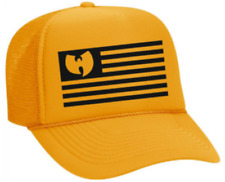 Wu Tang Yellow Logo Bleached Spots Dad Cap Adjustable Baseball Hat