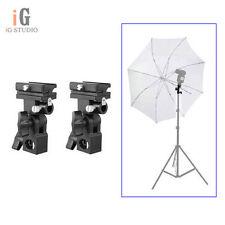 2pcs B Type Hotshoe Flash Flashgun Speedlite Bracket Umbrella Holder Light Stand