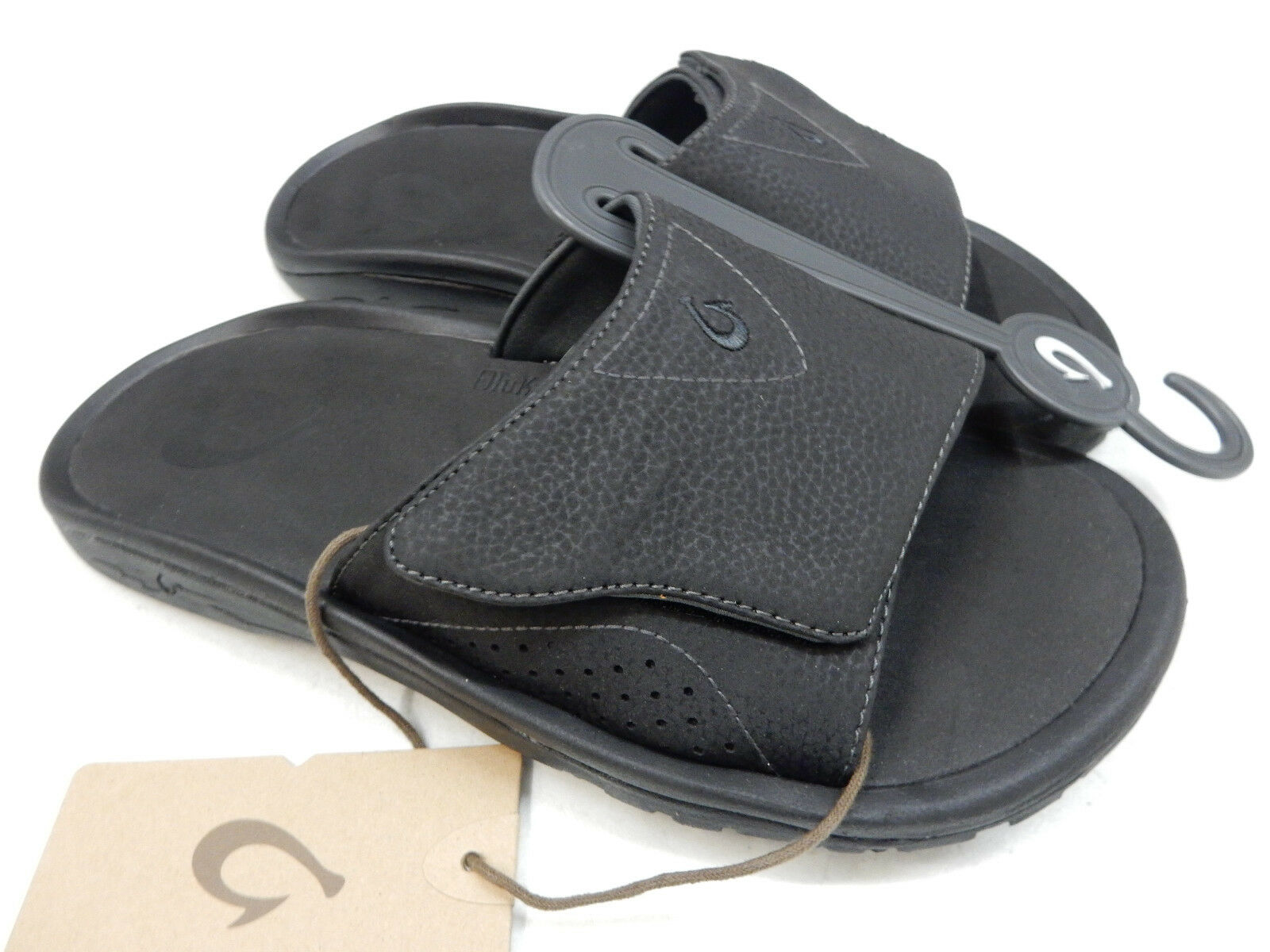 OLUKAI  Herren SANDALS SIZE NALU SLIDE BLACK SIZE SANDALS 11 34a948