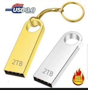 Clés USB de 2 To Clé USB Clé USB Étanche Clé en métal Clé USB Or 2 To