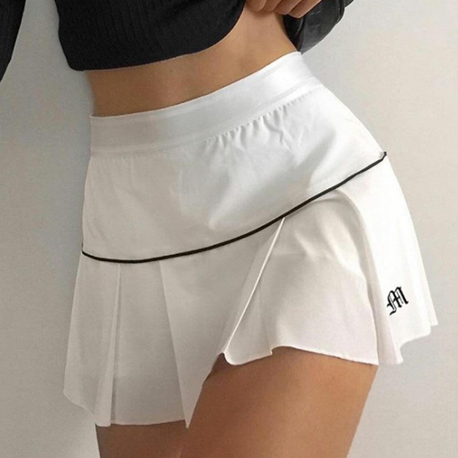 Faltenröcke für Damen Preppy Style Minirock mit hoher Taille Lässige Streetwear