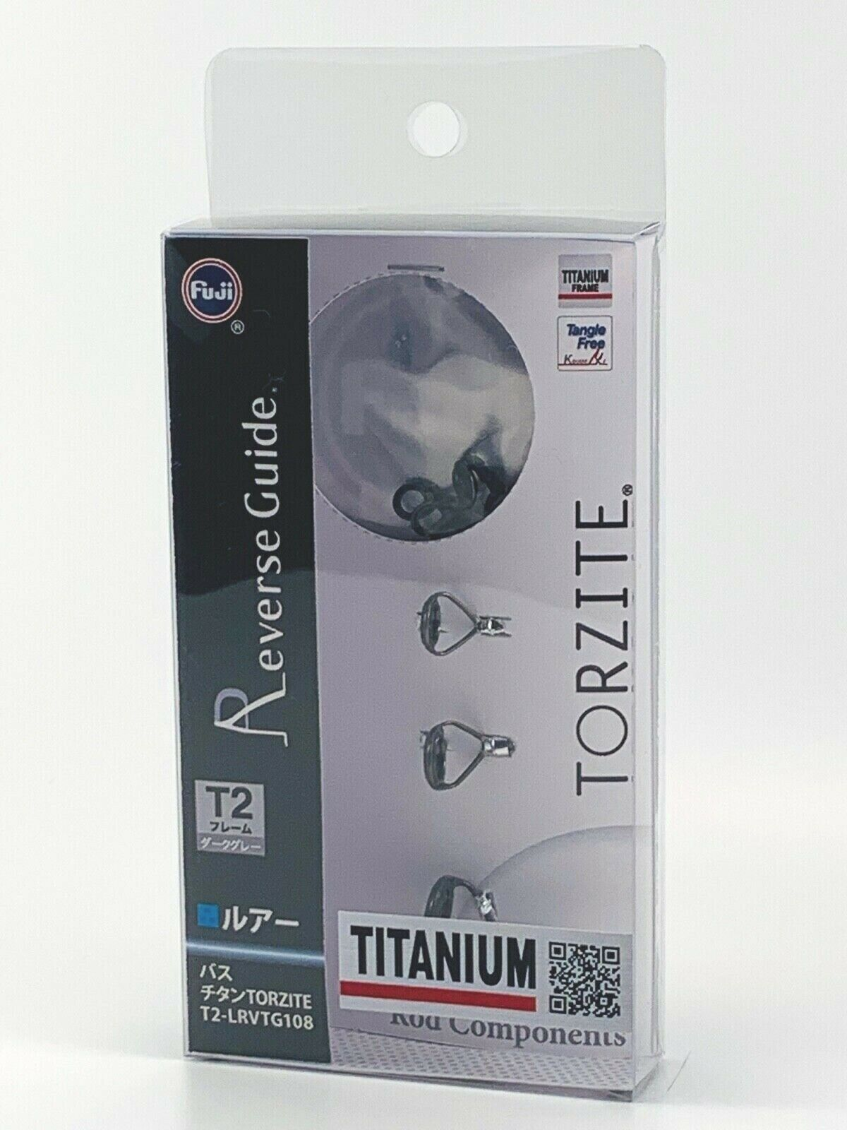 Fuji original Titanium TORZITE bait casting Guides Set T2-LRVTG108 Libre SHIPPING