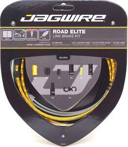 Jagwire-Road-Elite-Link-Ultra-Slick-Brake-Cable-Kit-Gold-Free-BC-R680-Cap-x2