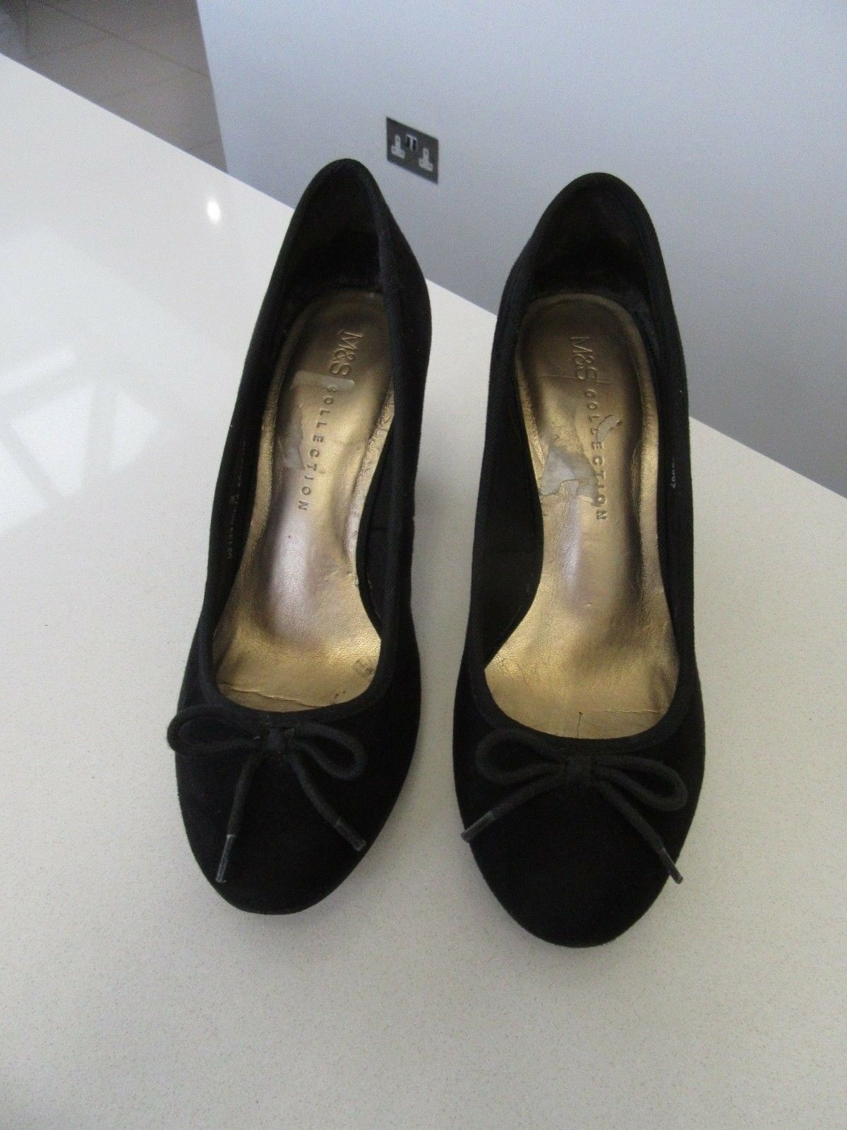 Ladies Marks & Spencer On Shoes For Size 3 Black Nice For Shoes Every Day Use 40a792