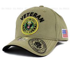 U.S. ARMY hat Military VETERAN ARMY Official Logo Flag Baseball cap- Khaki Beige