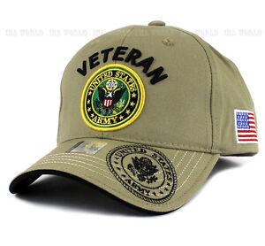 edd6ac6c480 U.S. ARMY hat Military VETERAN ARMY Official Logo Flag Baseball cap ...