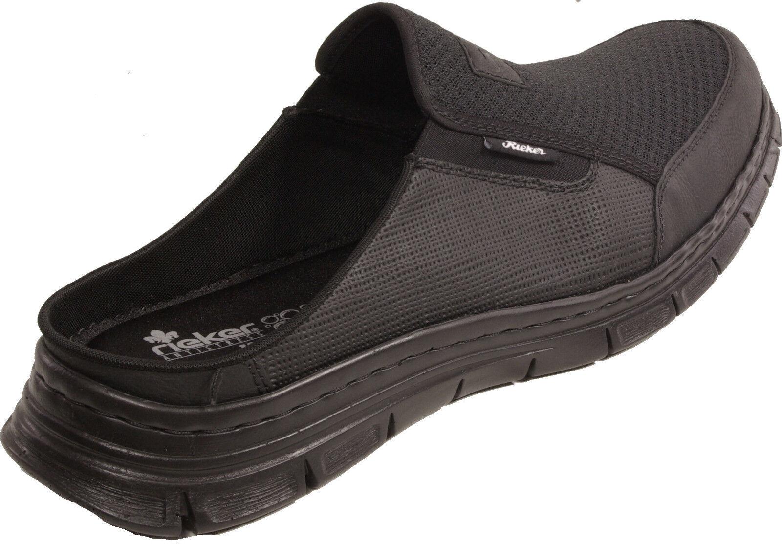 RIEKER Schuhe schwarz Pantoletten Clogs Hausschuhe schwarz Schuhe Weichbettung  NEU d651ab