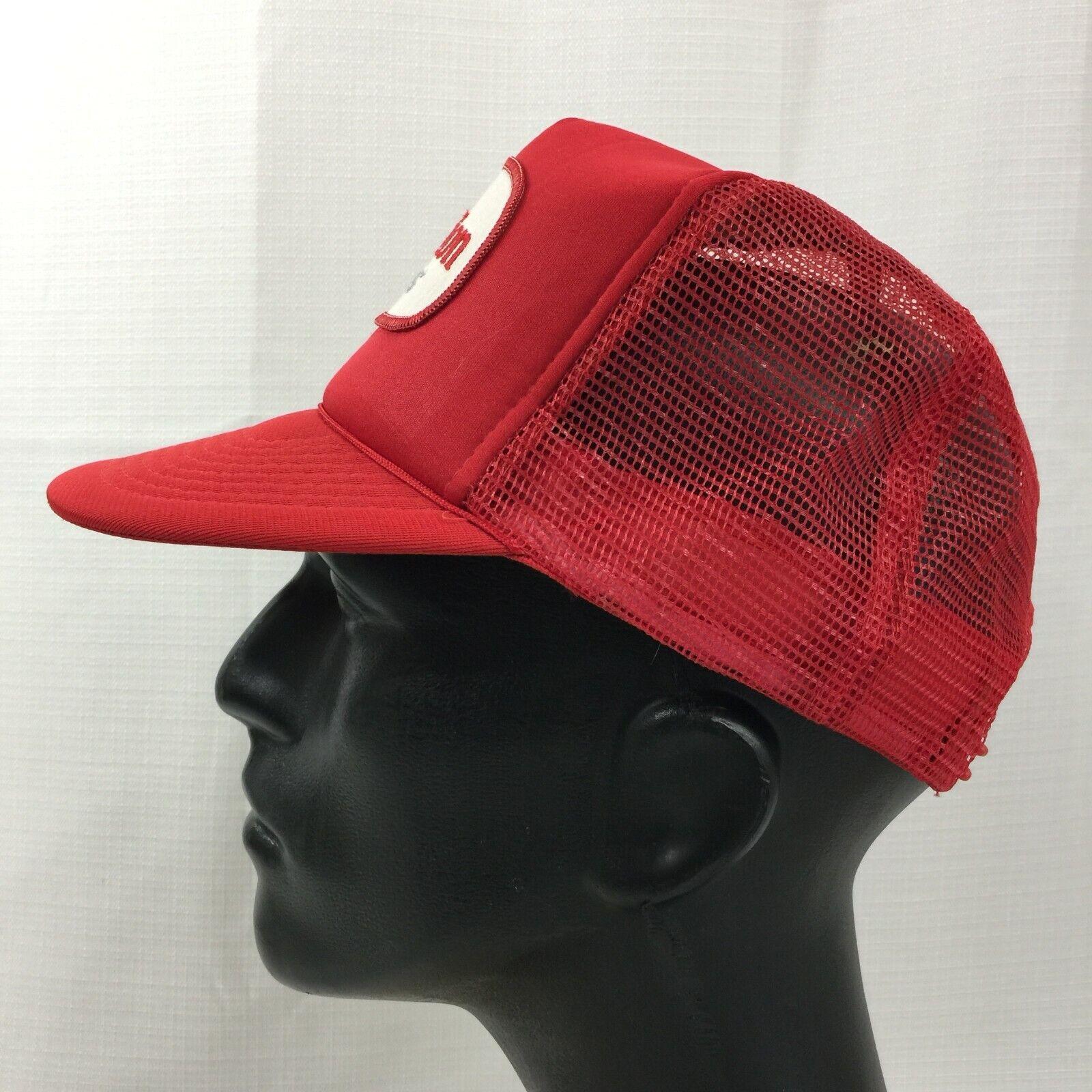Red Carnation Dairies Snapback Trucker Hat Cap Lo… - image 4