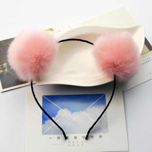 Lolita Pom Bandeau Festival tête bande en fourrure synthétique douce en épingle à Cheveux Fourrure Moelleux