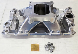 Details about [SALE] SBC Small Block CHEVY High Rise Polished Aluminum  Intake Manifold 350 383