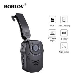 Boblov-Police-Body-Worn-Camera-HD-1296P-64GB-Recorder-DVR-Pocket-2-Inch-H-264