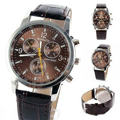 Fashion Unisex Stainless Steel Sports Quartz Watch Men Women Leather Wrist Watch