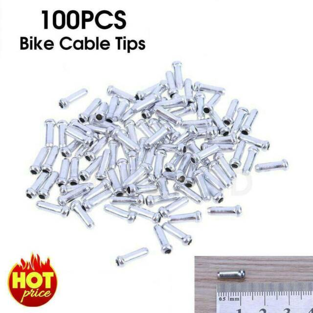 100pcs Bicycle Shifter Brake Gear Inner Cable Tips Ends Caps Crimp Ferrule AE