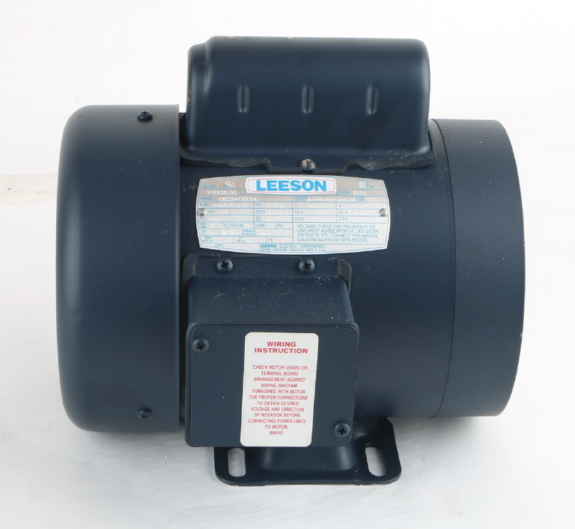 new 115838 00 leeson 3 4hp electric motor 3450 2850 rpm d56y frame, single phase 1 3 HP Electric Motor
