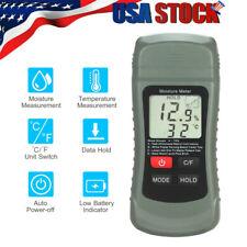 Digital Lcd Humidity Wood Moisture Meter Tester Firewood Electrode Detector G0f9