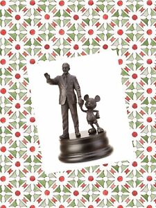 Disney-Parks-Mickey-Mouse-amp-WALT-Disney-Partners-Bronze-Figure-Figurine-Gift