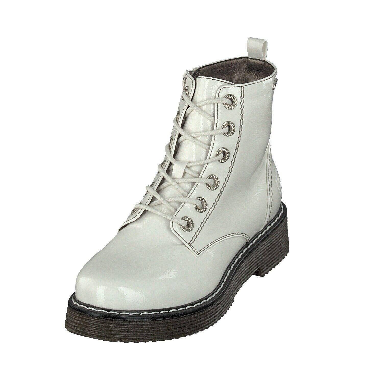 Bugatti Woman 431549325900 zapatos señora botas charol cremallera 2100 offblancoo