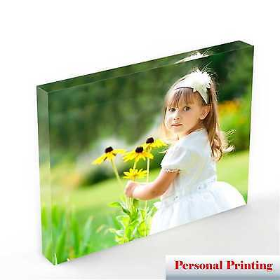 "Personalised Acrylic Photo Block With Your Photo upto 10"" x 8"""