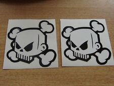 2x ken block skull stickers / skate - monster style,  car, bike, quad ,mx surf