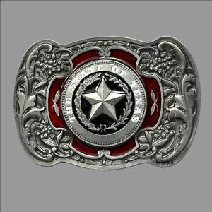 Texas State USA Gürtelschnalle Belt Buckle Emblem Flagge Star *472