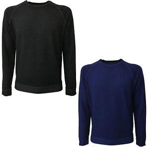 Details zu FERRANTE Pullover Herren Rundhalsausschnitt Schneiden Sie Sweatshirt mod U22118