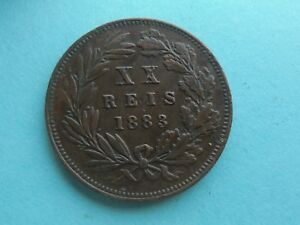 Portugal-20-Reis-1883-in-Good-Condition