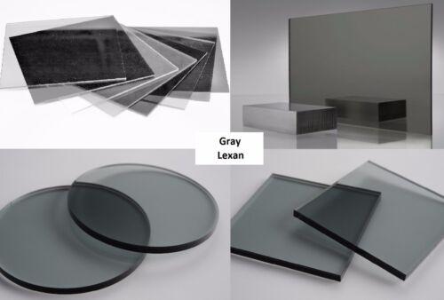 "3//16/"" Gray Smoke Tint 713 Lexan Polycarb Sheet Vacuum-Forming .187/"" x 24/"" x 48/"""