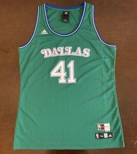 buy popular e50d4 4b4a2 Details about Rare Adidas NBA 4her HWC Dallas Mavericks Dirk Nowitzki  Jersey Women's XL