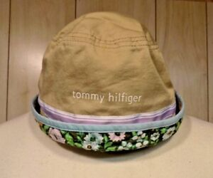 2ba45885f0f Image is loading Vintage-Tommy-Hilfiger-Bucket-Hat-Girls-Khaki-Floral
