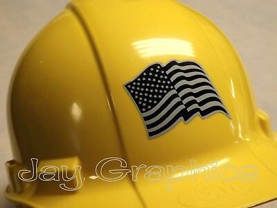 American Flag USA Black Ops Shield Hard Hat StickerStealth Helmet Decal