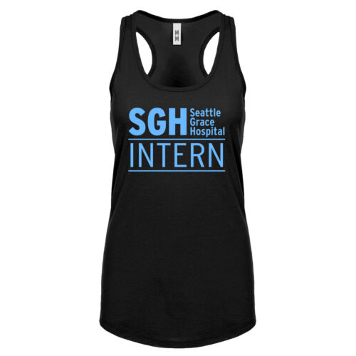 Womens Intern Seattle Grace Hospital Racerback Tank Top #3312